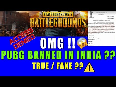 OMG !! PUBG Banned In India 😱😱 Real Or Fake ? Must Watch 🔥