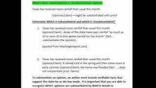 Substantiated v. Unsubstantiated Claims
