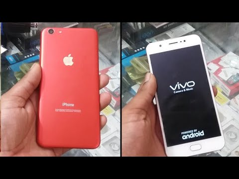 new concept 44e98 8f549 VIVO Y69 converted in iphone red with apple lamination Decorate wrap trick