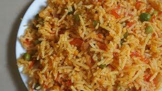 Tomato Rice Recipe - Lunch Box Recipes & Ideas | Instant Rice Recipes