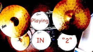 Jazz Drum Lesson: How to play in 2, with FREE PDF!