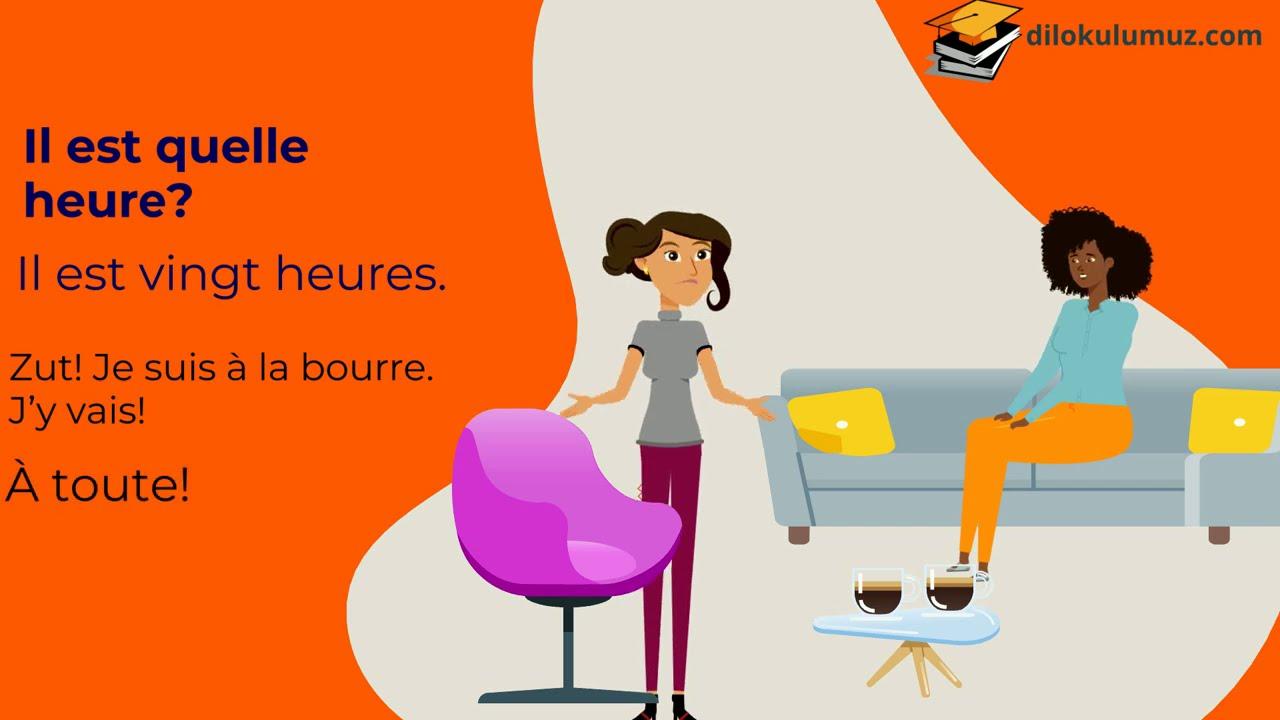 Fransızca Öğreniyorum | Günlük konuşmalar - Saatler