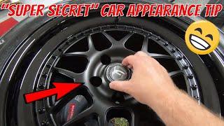 "Super Secret Car Appearance Trick - ""Show Mounting"" Your Wheel Center Caps"