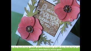 Lawn Fawn Die Pretty Poppies
