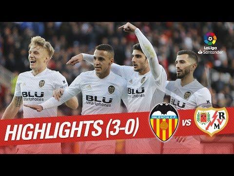 Highlights Valencia CF vs Rayo Vallecano (3-0)