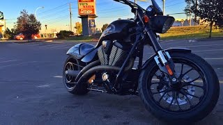 2013 Victory Hammer 8-Ball Conquest Customs Octanes Exhaust ~5700RPM and down
