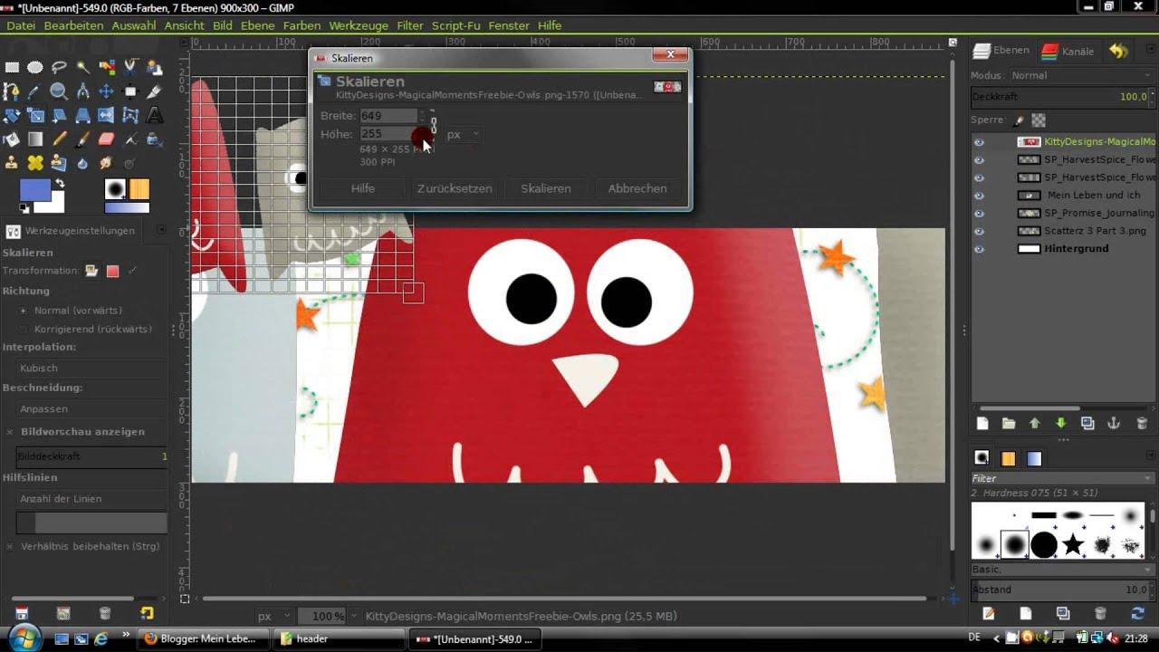 HD] Gimp 2.8 Tutorial - Header erstellen - Blogger - YouTube