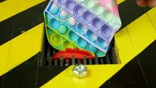Shredding Machine Crushing: POP IT Fidget Toys Destruction