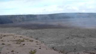 Kilauea from Jaggar Museum view.MOV
