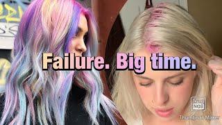 Rainbow Hair Dying Fail!!