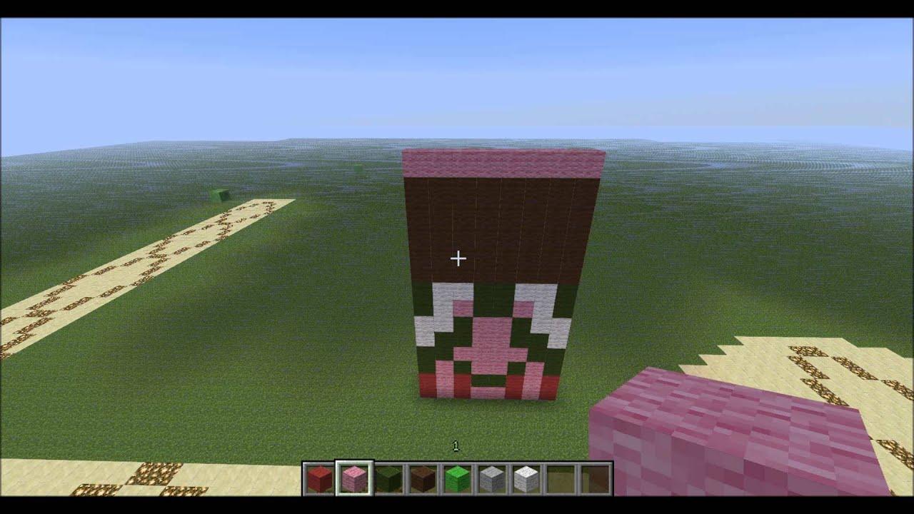 Tuto pixel art du cochon zombi sur minecraft youtube - Minecraft cochon ...
