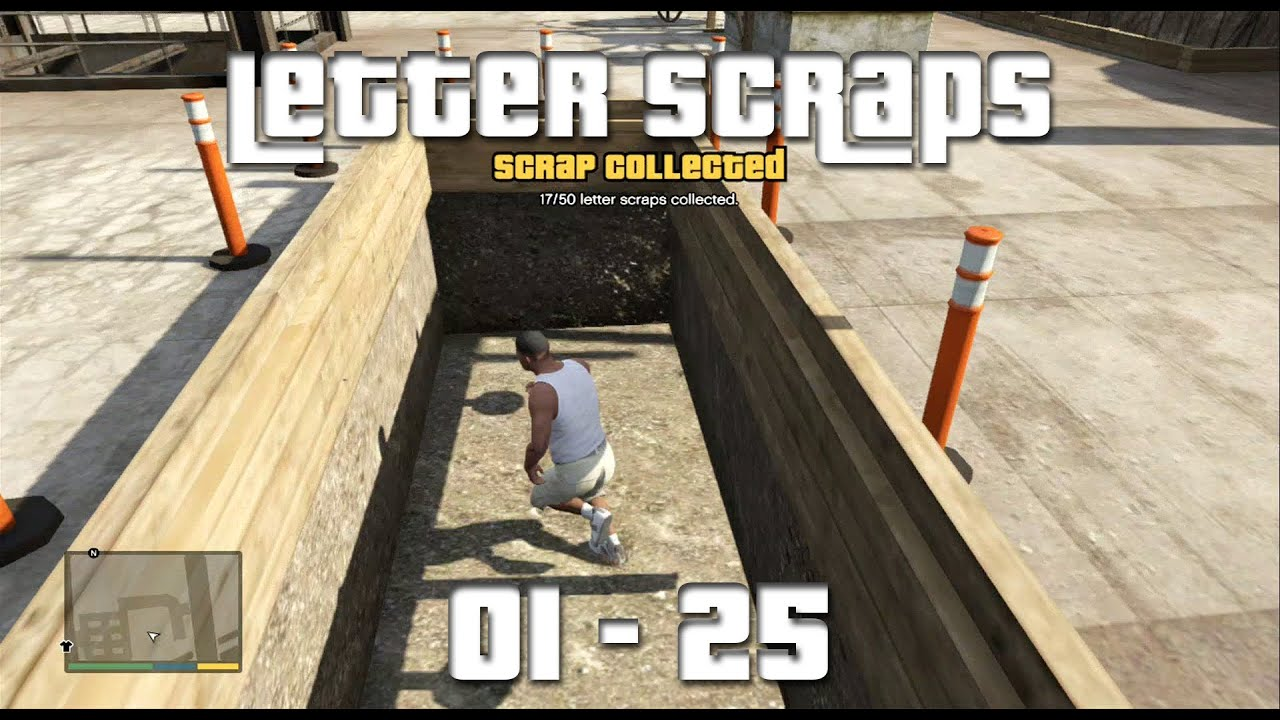 GTA V - All Letter Scrap Locations (01-25) (A Mystery, Solved