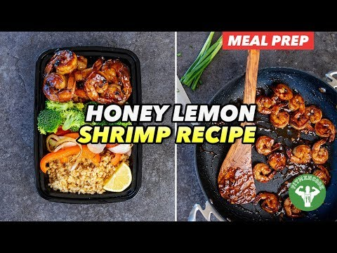 Meal Prep Honey Lemon Shrimp Recipe with Veggies & Rice