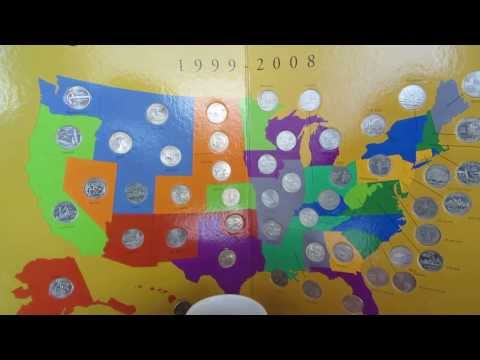 State Quarters Map 1999-2008