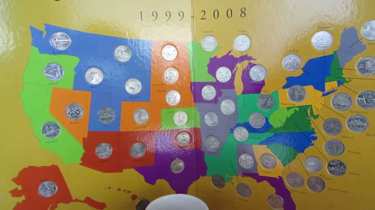 First State Quarters Collectors Map YouTube Amazoncom 50 State