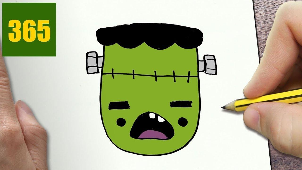 Come disegnare frankenstein halloween kawaii passo dopo - Come disegnare immagini di halloween ...