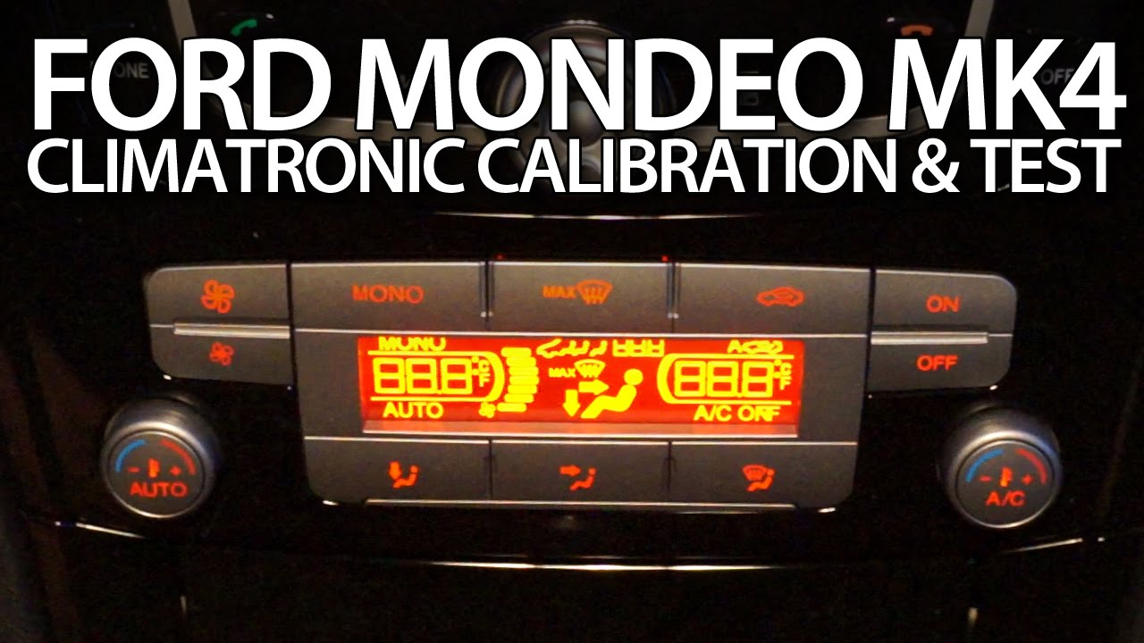 Ford Mondeo Mk4 Climatronic Calibration Air Condition Selftest Adjustment Youtube