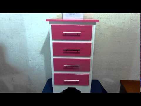 Mueble para ni a cajonera 4 gavetas color rosado blanco - Muebles para ninas ...