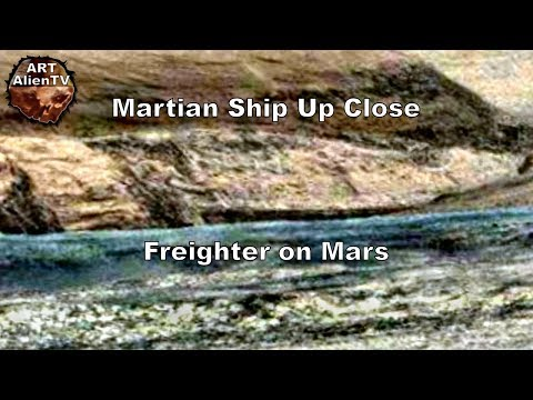 Martian Ship Up Close - Freighter on Mars - ArtAlienTV (R)