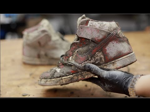 Cleaning The Dirtiest Nike SB's Ever! $3000 Red Star Dunks Back To Brand New!