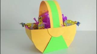 Корзинка из бумаги своими руками\\ How to make a simple paper basket