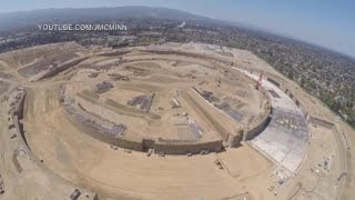 Raw Video: Apple's 'Spaceship' Campus Filmed by Drone