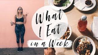 WHAT I EAT IN A WEEK + WORK OUTS | Hello October Vlog