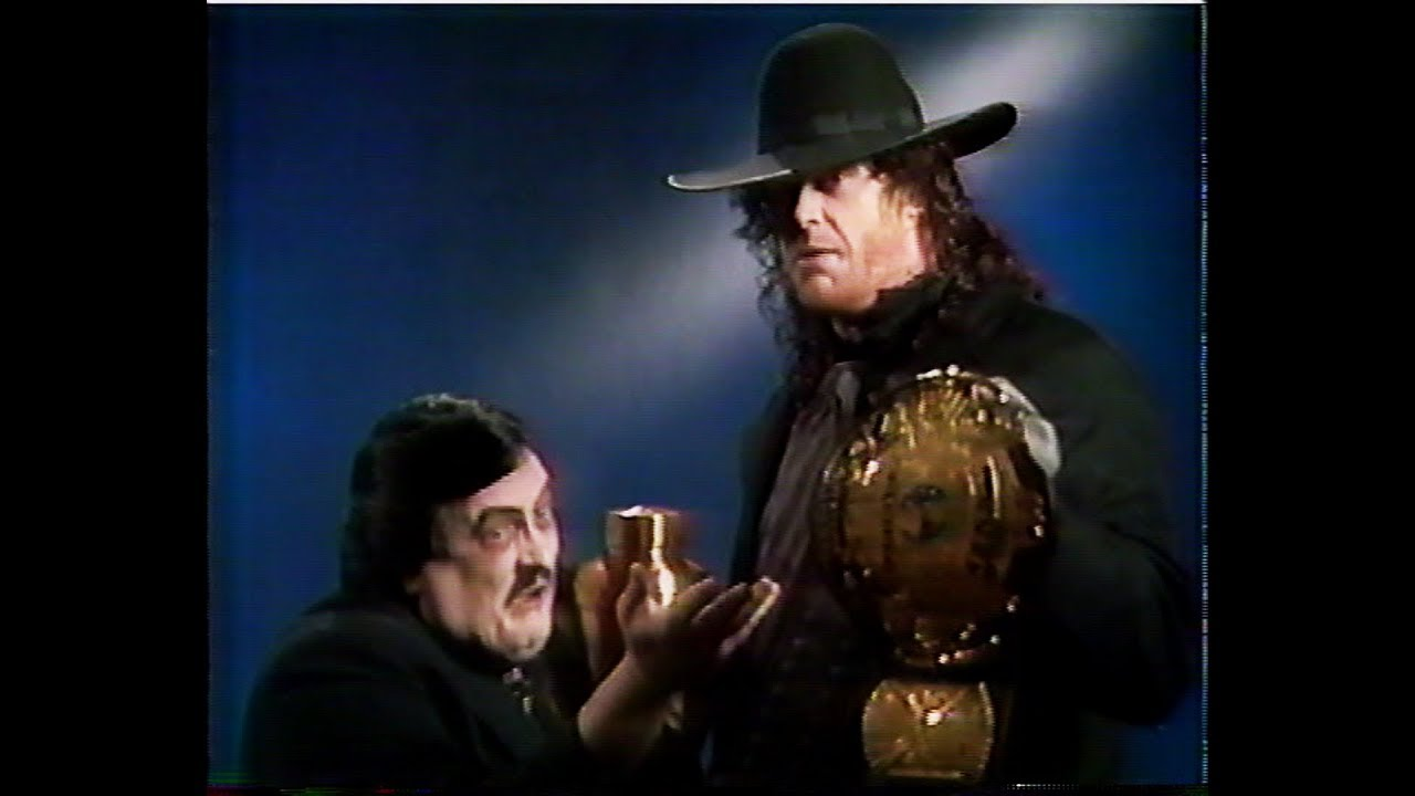 Undertaker As WWF Champion [1991-11-30] - YouTube