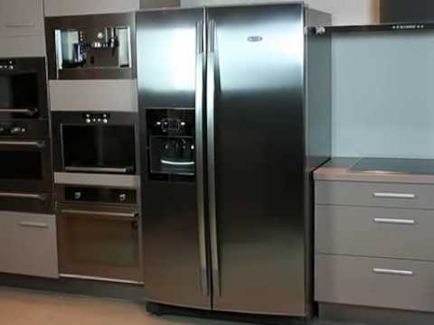 whirlpool side by side refregerator wsc 5555 a x we product presentation french youtube. Black Bedroom Furniture Sets. Home Design Ideas