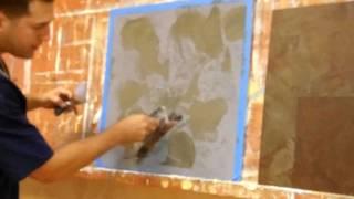 Firenzecolor Venetian Plaster RustOn 2 Tone Verde & Rosso