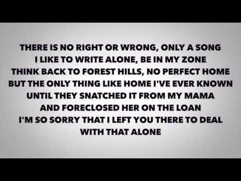 J-Cole - Apparently ( Lyrics Video)