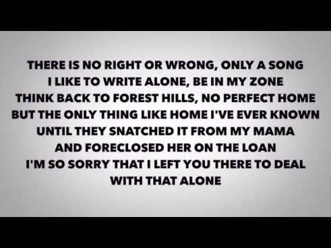 J-Cole - Apparently ( Lyrics Video)