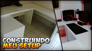 ✔ Construindo meu setup: #04 - Montando a mesa (Tecno Mobili)!