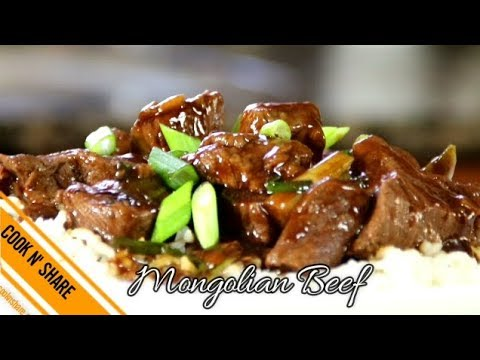 Mongolian Beef Fast and Easy - Quick Dinner