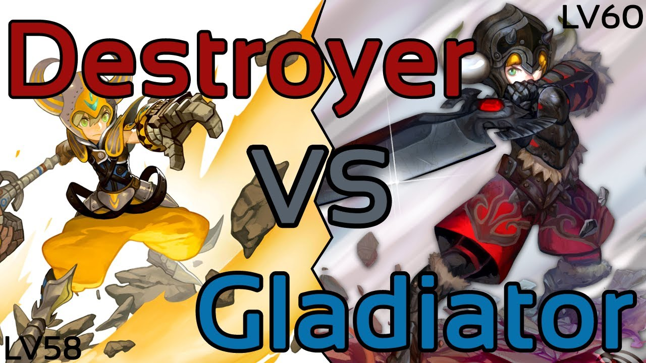 dragon nest destroyer vs gladiator level 60 content