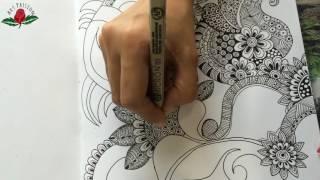 floral doodle zenart doodling : doodle 3