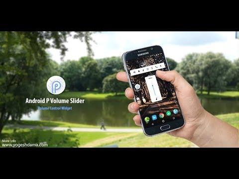 Android P Volume Slider App Demo