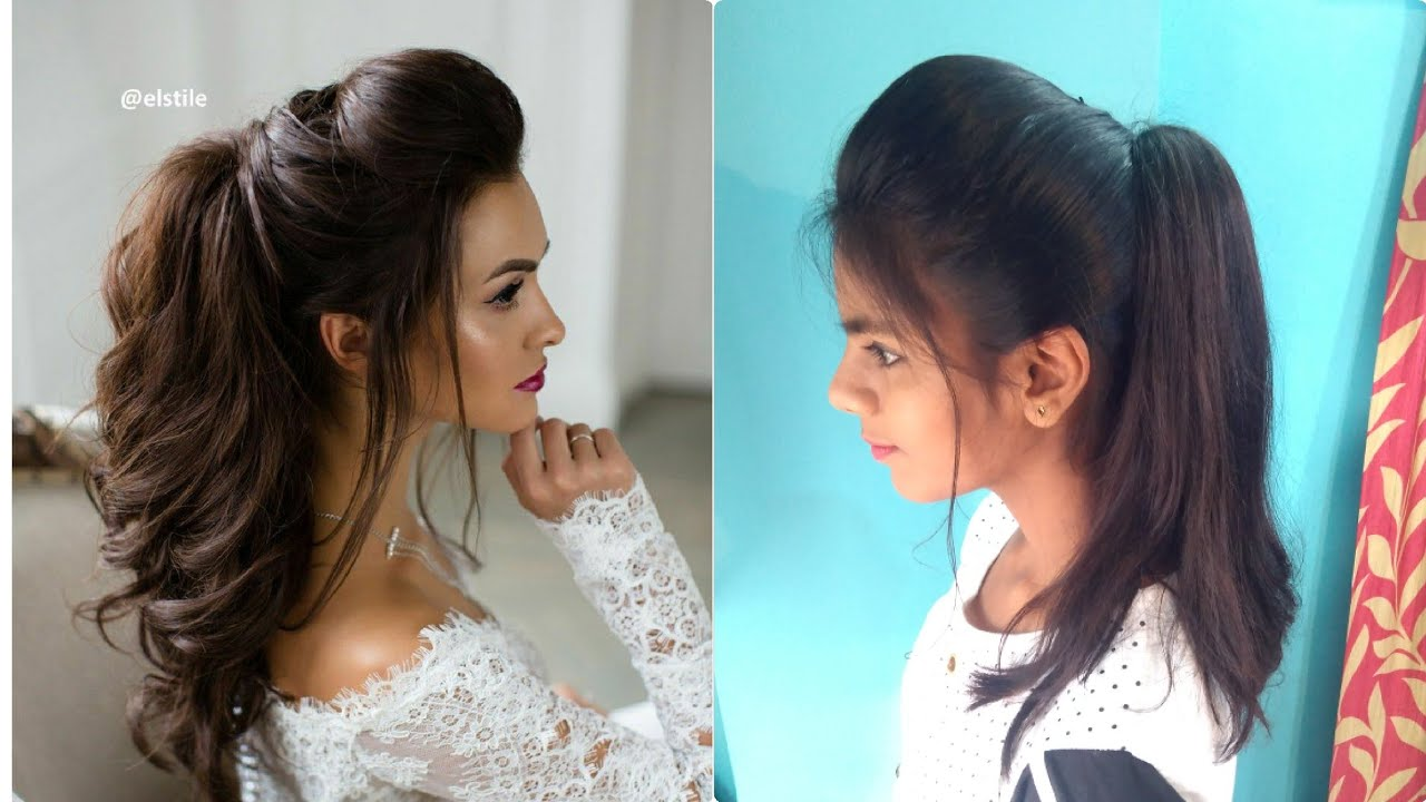 the perfect high ponytail with puff | messy ponytail | no teasing, no hairspray | indian hairstyles