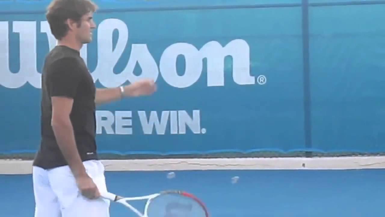buy popular 004c1 fbc3f Rafael Nadal and Roger Federer practicing in Abu Dhabi World Tennis  Championship 2013-2014