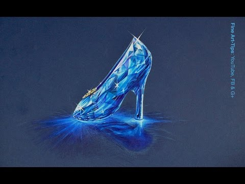How to Draw the Cinderella Crystal Slipper