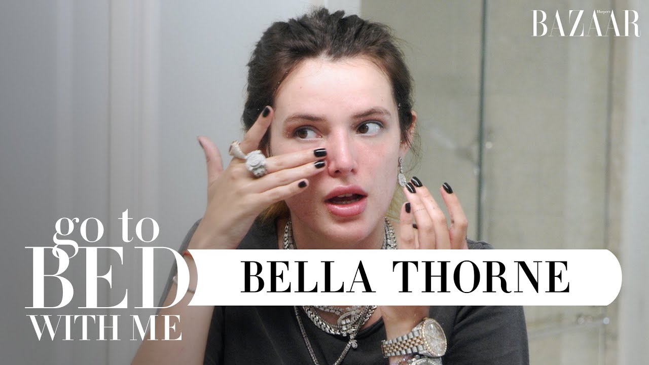 Bella Thorne's All-Natural, DIY Nighttime Skincare Routine | Go To Bed With Me | Harper's BAZAAR