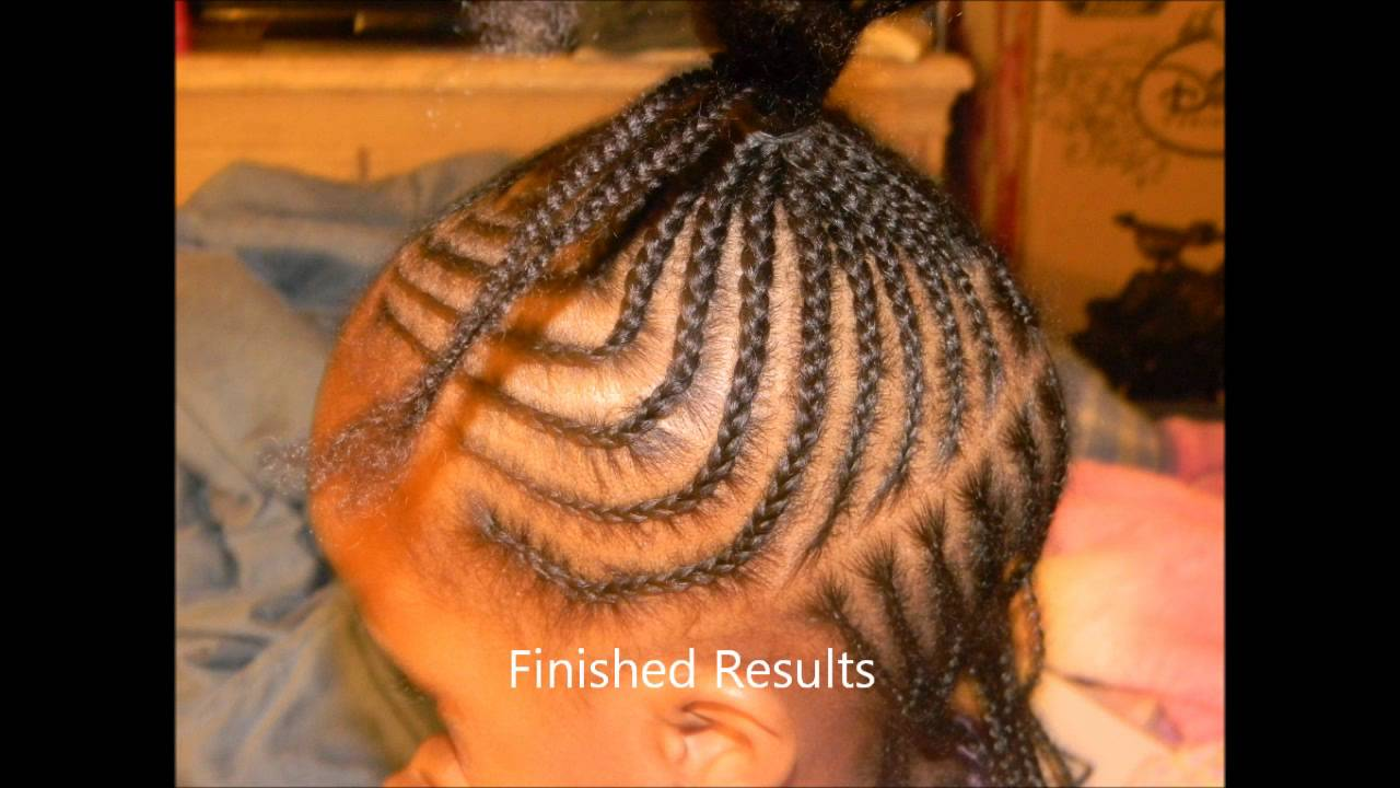 Cute Braided Style For Little Girls With Natural Hair Youtube