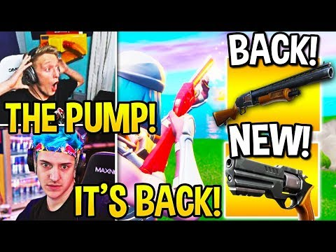 STREAMERS USE *UNVAULTED* PUMP SHOTGUN & *NEW* REVOLVER! (Fortnite Moments)