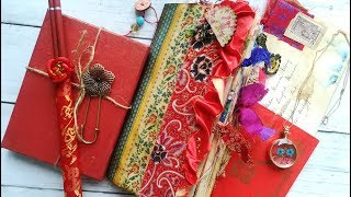 Madam Wong's Diary Vintage Asian Oriental Junk Journal - The Graphics Fairy DT Project
