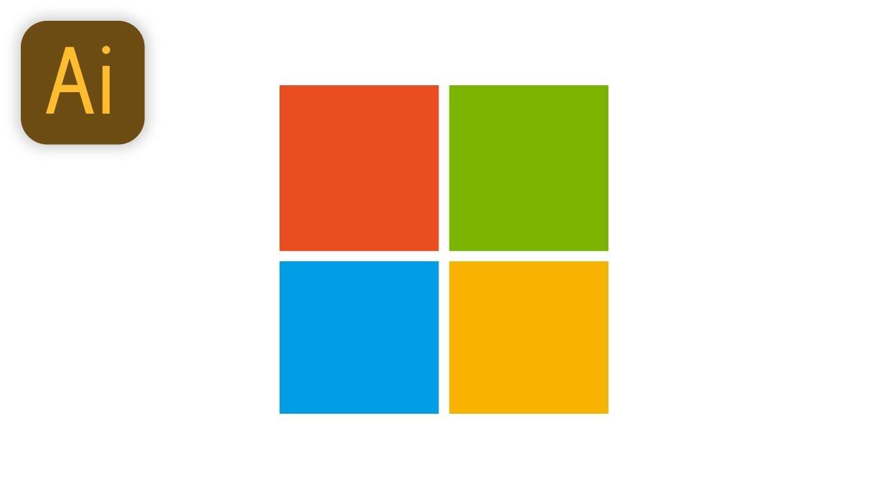 Download Design Microsoft logo (Illustrator Tutorial) — abcinformatic