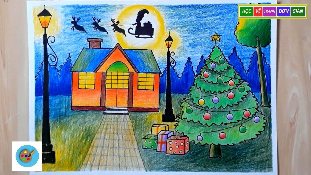 ART#2| Vẽ Tranh Đề Tài Lễ Hội Noel – painting the theme of christmas festival