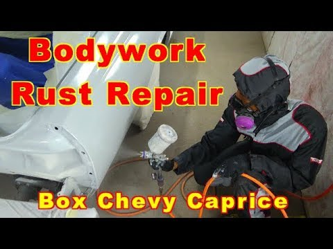 Auto Bodywork Rust Repair And Primer For Paint / Box Chevy Caprice LS Brougham Project Update