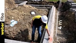 Kā tiek mūrēti FIBO BLOKI pēc pamatu pēdas izveides?