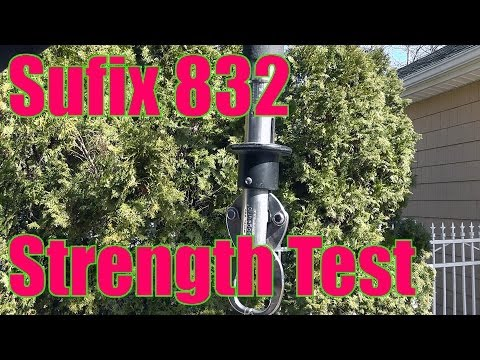 Sufix 832 Braid Strength Test - Breaking Point For One Season Old 20lb Test Braid