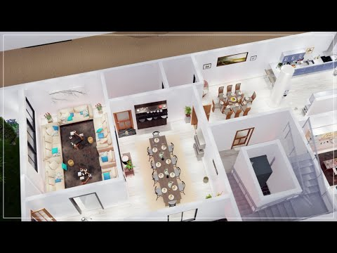 """فيديو 3D لـ مخطط ثلاثي الابعاد """"فيلا خاصة """" #مخططات  Plan 3D Private Villa 3  """